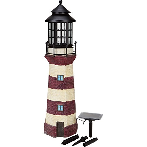 Outdoor Garden Tower Lighthouse  With Light