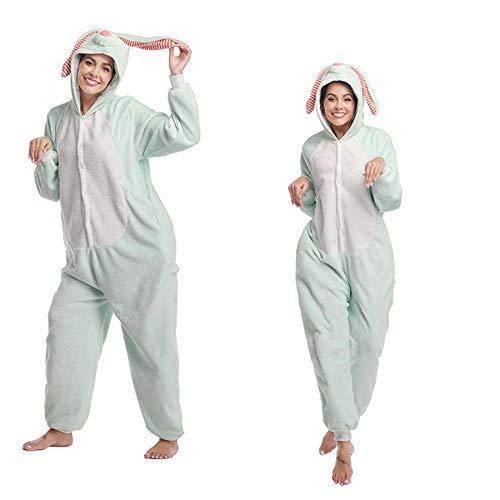 Pijama Adultos Polar Fleece Kigurumi Navidad Gorila Disfraz Animal Onesies Pijamas Halloween Carnaval Masquerade Party Mono Ropa-Conejo_S