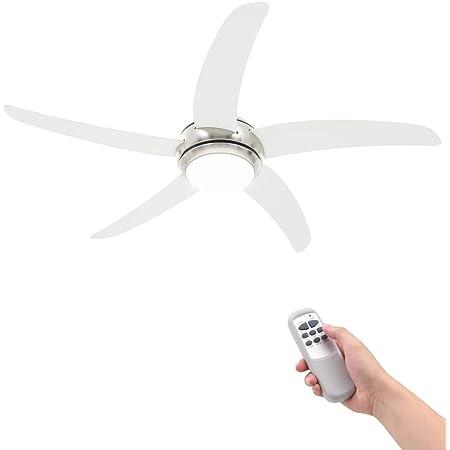 vidaXL Ventilateur de Plafond Orné avec Lampe Blanc Ventilateur de Maison