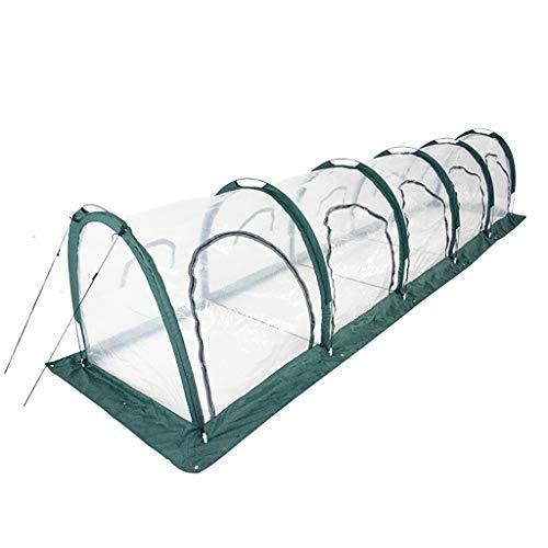 Yuyandejia Invernadero Portátil Invernadero Jardinería Ligero de un Solo Nivel con PE Cubierta Plegable luz del Sol de Almacenamiento Prevención Green House, 500cm (L) x 100 cm (W) x 100 cm (H)