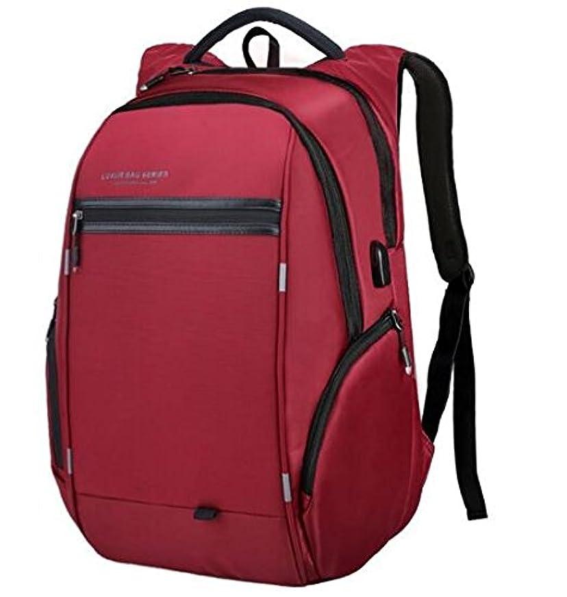 よろめく遵守する経営者LUXUR ビジネスリュック PCバッグ リュックサック USB充電ポート 盗難防止 バッグパック 大容量 バッグ