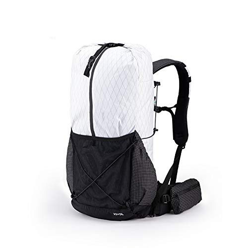 XRQ 30L Hiking Backpack, Foldable Camping Backpack,Ultralight Outdoor Sport Backpack,Mountaineering Travel Waterproof Camping Backpacking,White,30L