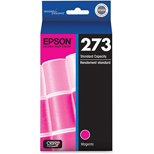 EPSON T273 Claria Ink Standard Capacity Magenta Cartridge (T273320-S) for Select Epson Expression Premium Printers