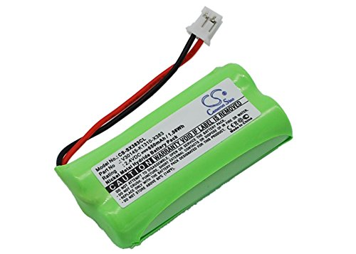 TECHTEK batería sustituye 55AAAHR28MX, para C30852D1640X1, para S30852-D1640-X1, para T382, para V30145-K1310-X359, para V30145-K1310-X383 Compatible con [UNIVERSUM] CL15, SL15, para [Siemens] Gigase