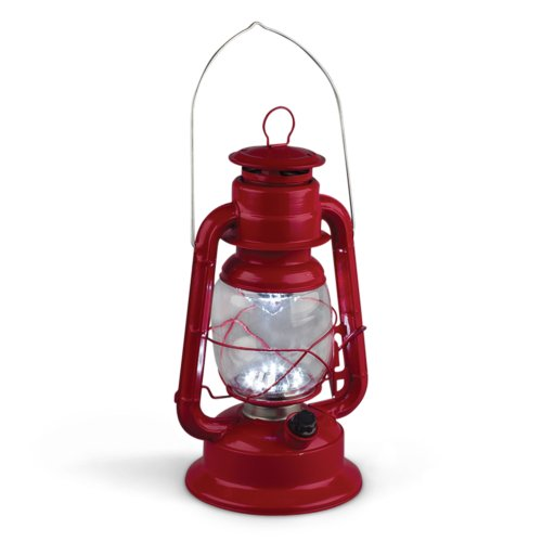 Gerson 11-Inch Red Metal 17 LED Hurricane Lantern with...