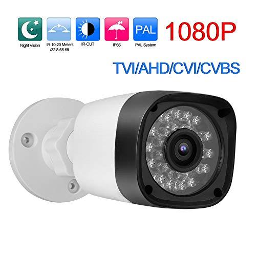 Bewakingscamera TVI/AHD/CVI/CVBS Nachtzicht CCTV Outdoor Waterdichte beveiliging Analoge bewakingscamera voor thuiskantoor (1080P)