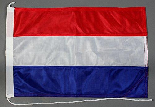 Buddel-Bini Bootsflagge Niederlande Holland 30 x 45 cm in Profiqualität Flagge Motorradflagge