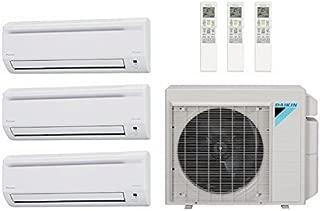 Daikin 40,000 Btu 17.7 Seer Multi Zone Ductless Mini Split Heat Pump System (AC and Heat) - 7K-15K-18K
