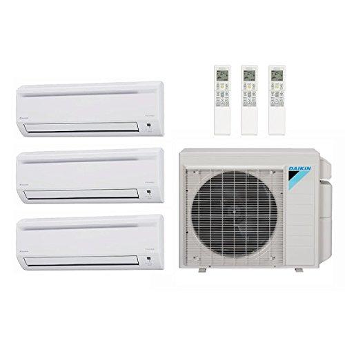 40,000 Btu 17.7 Seer Daikin Ductless Mini Split Heat Pump System - 7K-15K-18K 4MXS36RMVJU - CTXS07LVJU - FTXS15LVJU - FTXS18LVJU