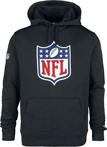New Era NE92160FA14 Team Logo PO Hood BLK Sudadera-Línea NFL Generic, Hombre, Negro, L