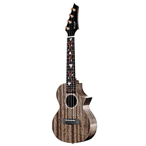 Ukeleles Instrumento De Cuerda para Principiantes Moda, Ukulele De Caoba Little Guitar para Niños Instrumento Musical para Principiantes De Boy Girl (Color : Black, Size : 26 Inches)