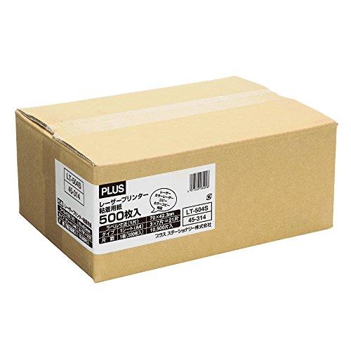 プラス レーザーラベル  粘着用紙 A4 21面 500シート LT-504S 45-314