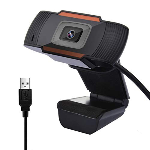 RBNANA Webcam con Microfono, 720P HD Webcam per PC, USB 2.0 Videocamera per PC, Laptop, Streaming live, Videochiamata, Studi, Conferenze
