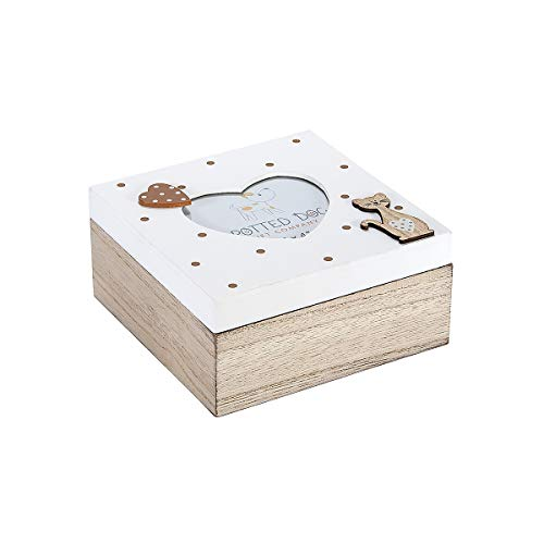 Caja de Madera con Tapa Decorada con Marco de Fotos en Forma de Corazón para Caja de Baratijas, Joyas y Recuerdos, Diseño de Gato Marrón y Blanco, Regalo Originales para Mujer