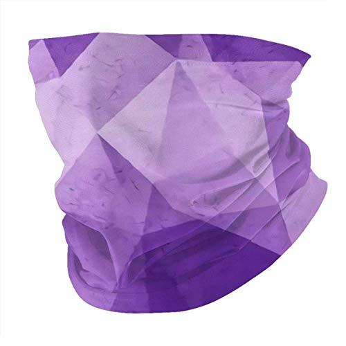 Pañuelo multifunción de cristal púrpura para la cabeza para deportes al aire libre Ma-sk sin costuras, transpirable, pasamontañas protección UV Unisex