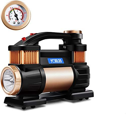 JF Bombas eléctricas Cilindro Doble 12V Inflador de neumáticos/compresor de Aire con...