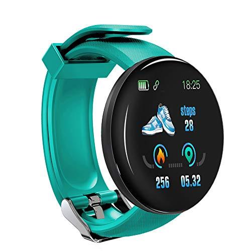KRISWU - Reloj inteligente de pantalla a color, ritmo cardíaco, presión arterial, salud, fitness, fitness, deporte, pulsera de actividad podómetro para unisex