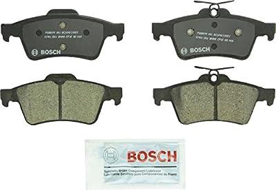 Bosch BC1095 QuietCast Premium Ceramic Disc Brake Pad For: Chevrolet Cobalt; Ford C-Max, Escape, Focus, Transit Connect; Jaguar; Mazda; Pontiac; Saab; Saturn; Volvo, Rear