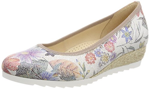 Gabor Shoes Damen Comfort Sport Geschlossene Ballerinas, Mehrfarbig (Multicolor (Jute), 38.5 EU
