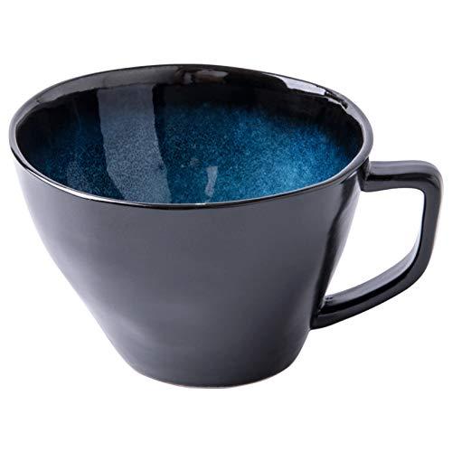 Taza para café, té Gran Taza De Café De Cerámica, Taza Irregular De Leche De Calibre Grande, Adecuada Para Familias O Amigos.Copas De Cerámica Para Café, Té, Cacao Y Bebidas. Taza de bebidas calientes