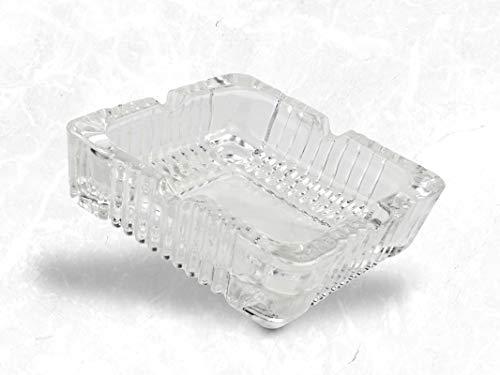 Qianli Aschenbecher aus Glas - Aschenbecher für Zigaretten – Hitzebeständig, Spülmaschinenfest & Stapelbar – Ideal für Privat und Gastronomie