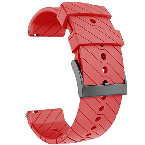 ANBEST Correa Compatible con Suunto 9 Pulsera, Correa de Silicona de 24mm Pulseras de Repuesto para Suunto 9 Baro/Suunto Spartan/Suunto 7 GPS Smart Watch