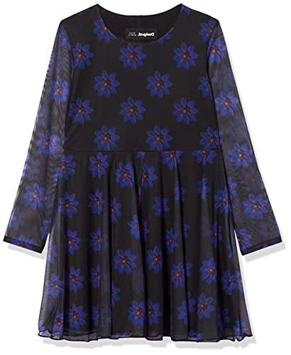 Desigual Vest_Alicia Vestido Casual, Azul, 9-10 Años para Niñas