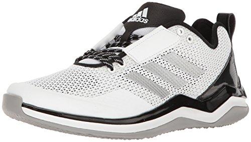 adidas Men's Freak X Carbon Mid Baseball Shoe Cross Trainer, White/Silver Metallic/Black, (6.5 W US)