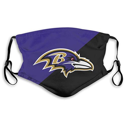 Face_Mask Face Dust Reusable Washable Carbon Cloth Football Sports Team Men/Women-Baltimore Ravens-Kid/Youth halloween mask