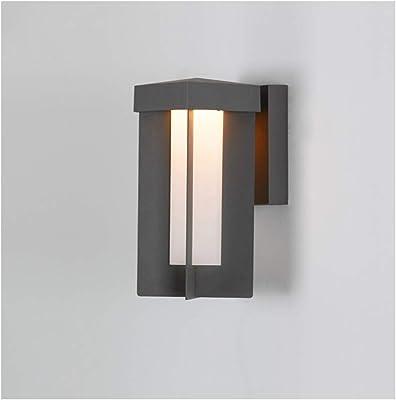 & apliques pared dormitorio Lámpara de pared, simple moderna al aire libre LED Impermeable Terraza Pasillo Puerta Balcón Escalera Jardín Lámpara lampara pared (Size : 22 * 17 * 42cm): Amazon.es: Iluminación