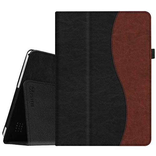 Fintie Case for Dragon Touch 10 inch K10 / Notepad K10 / Max10 Tablet, Premium PU Leather Stand Cover Compatible Lectrus 10.1, Victbing 10, Hoozo 10, Winsing 10, ZONKO 10.1 Android Tablet, Dual Color