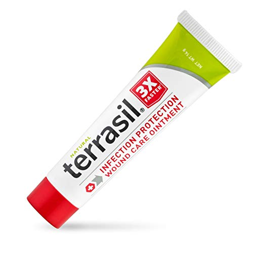 Terrasil Wound Care - 3X Faster Healing, Infection Protection Ointment for bed sores, pressure sores, diabetic wounds, ulcers, cuts, scrapes, and burns (14 gram tube)