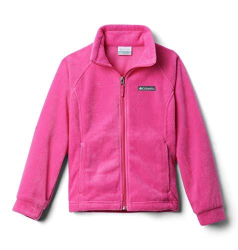 Columbia Girls' Toddler Benton Springs Fleece Jacket, Pink Ice, 2T