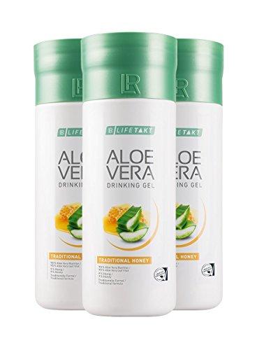 LR LIFETAKT Aloe Vera Drinking Gel Honig Nahrungsergänzungsmittel (3x 1000 ml)
