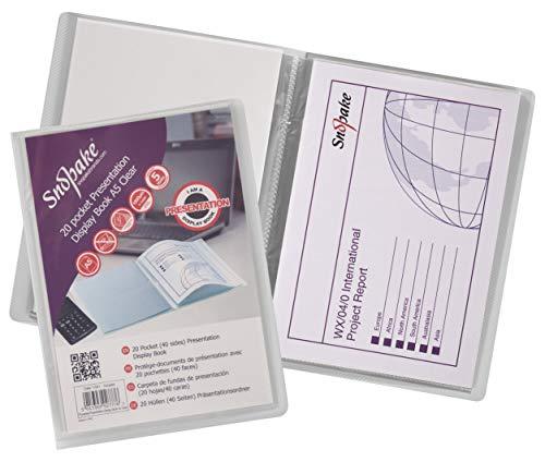 Snopake A5 Protège-documents 20 pochettes Transparent (Import Royaume Uni)