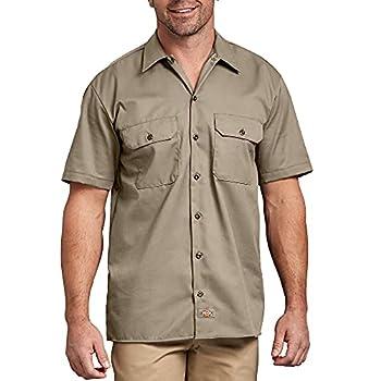 Dickies Men s Short-Sleeve Work Shirt Desert Sand Large