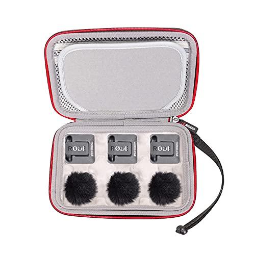 RLSOCO Custodia per RODE Wireless GO II/RODE WIRELESS GO - Compact Wireless Microphone System (Grigio)