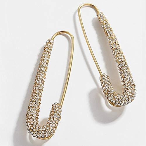 Pendientes de oro vintage para mujer, perlas de imitación,