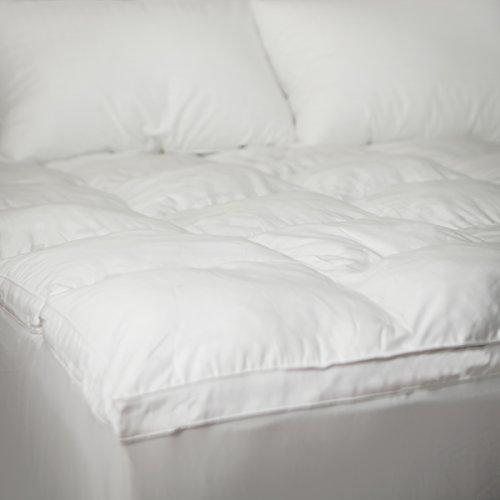 Allied Essentials 100% Hypoallergenic Down Alternative Comfort Fiber Mattress Bed Topper, White, King