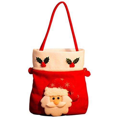 Cadeau de Noël Candy Bunch Sacs, Hankyky Sacs à main Arbre de Noël de porte de fête à suspendre Ornement Pendentif Décoration de maison, a, 35 x 20 cm