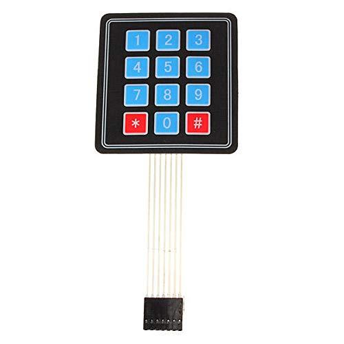 MING-MCZ Duradero 4 x 3 Matrix 12 Conjunto de Teclas Interruptor de Membrana del Teclado Teclado for 5Pcs Fácil de Montar