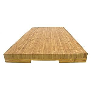 "BambooMN Brand Jenn Air Bamboo Range Burner Cover / Cutting Board, New Vertical Cut, Large (20.5""x12""x1.57"")"