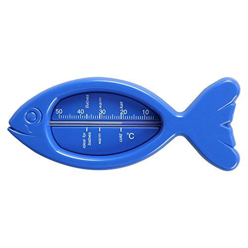 BADETHERMOMETER Kunststoff Fisch blau 1 St