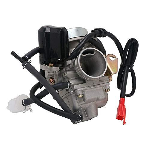 RETYLY Carburador de Carburador Pd24J de 24 Mm para Gy6 150Cc 125Cc Scooter Motocicleta ATV Kazuma