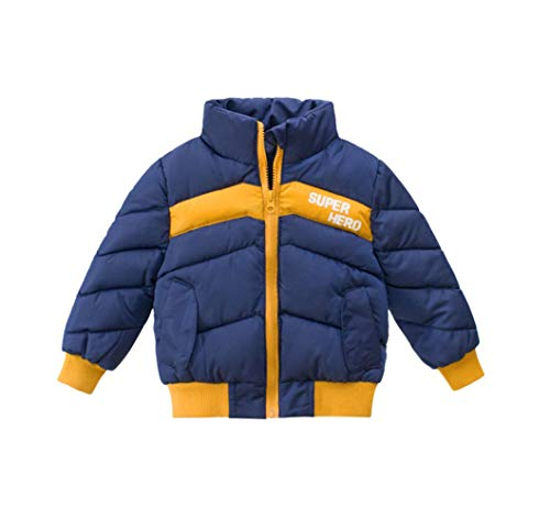 PRADRD ダウンジャケット キッズ 子ども ダウンコート ダウンコート 男の子 キッズアウター ボーイズ 中綿コート 冬 防寒 子供服 アウター 軽量 ブルー 130