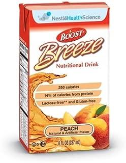 Boost Breeze Peach, 8 Ounce Carton, by Nestle - Case of 27