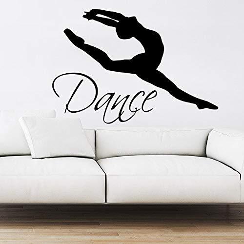 Wopiaol Islam Muursticker met kussens thema muursticker dans ballerina gymnastiek dans 83 x 57 cm