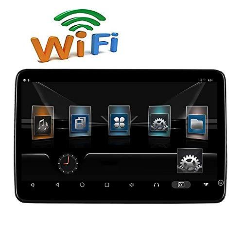 Roboraty auto hoofdsteun monitor IPS-scherm, WIFI HDMI AV 1920 × 1080P 2 + 16G HD 4K speler, ondersteuning Android 7.1 systeem, mobiele telefoon interconnectie op hetzelfde scherm Zwart