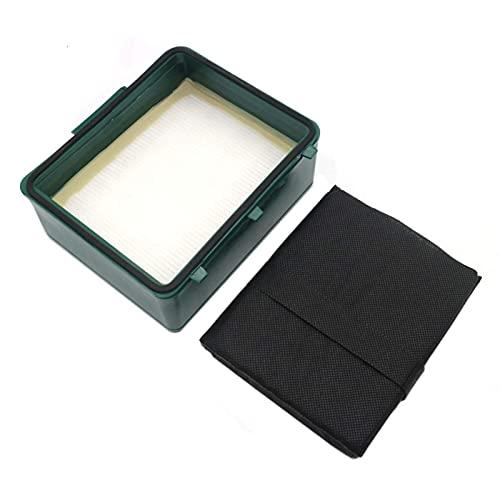 De Galen Piezas de repuesto para limpiador de repuesto Cassette Fit para Vorwerk Tiger VK251 VK252 Limpiador de accesorios de limpieza del hogar