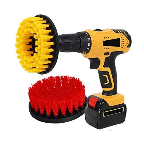 Kingbra - Cepillo de limpieza para superficies de baño (2 unidades, 12,7 cm, con perforación, dureza media, para limpieza de superficies de baño, azulejos y suelos de madera)